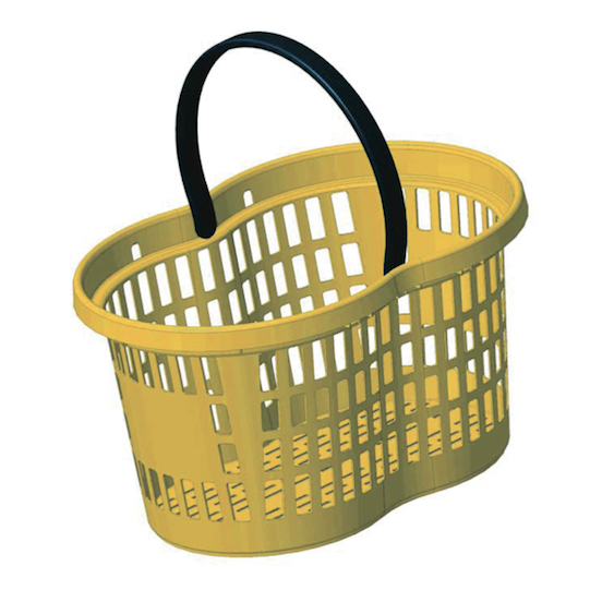 Flexi Basket 21 Lt – Yellow